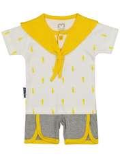 ست تی شرت و شورت نوزادی آدمک مدل 2171112-16 -  - 1