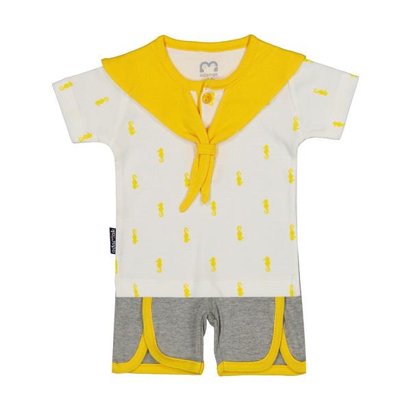 ست تی شرت و شورت نوزادی آدمک مدل 2171112-16
