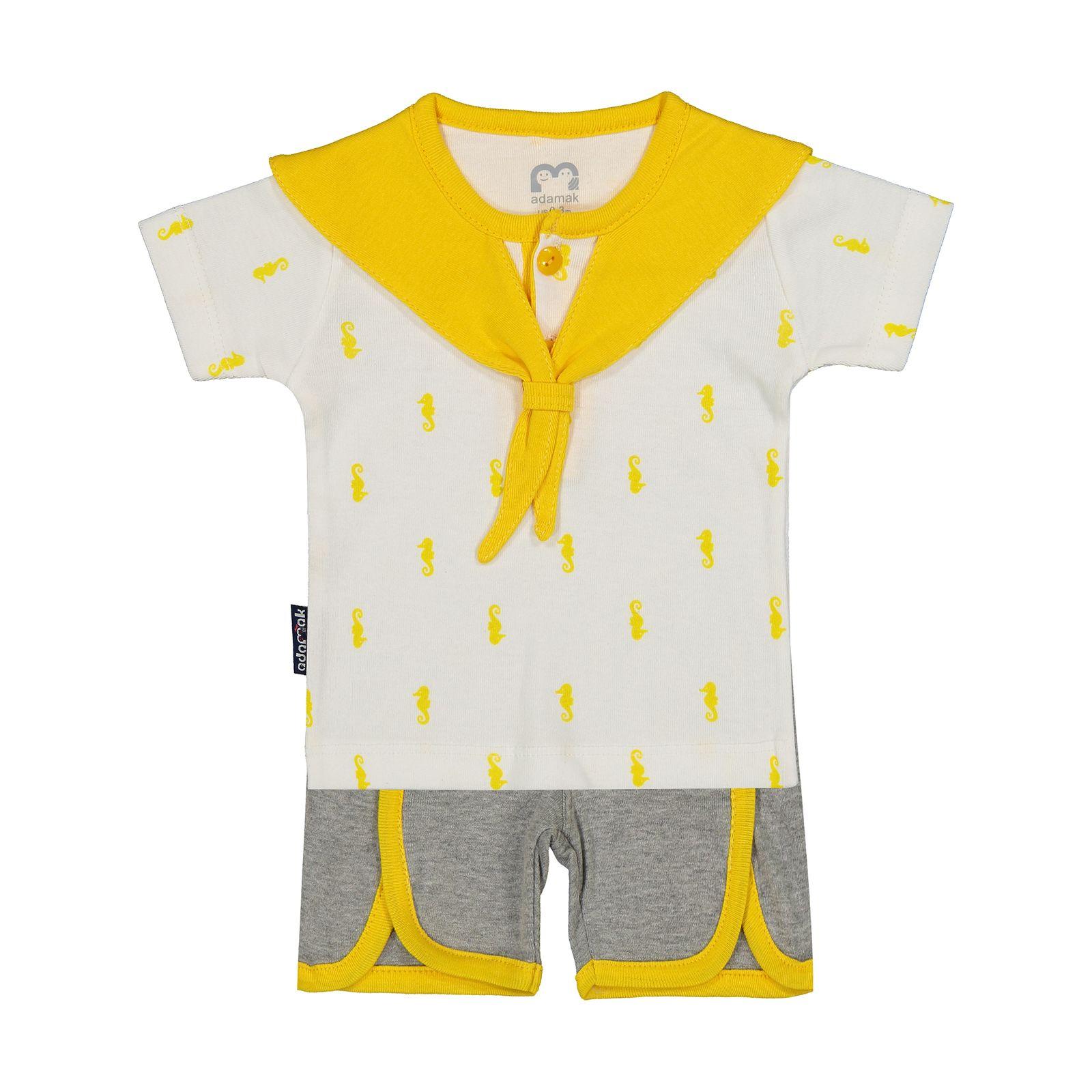 ست تی شرت و شورت نوزادی آدمک مدل 2171112-16 -  - 2