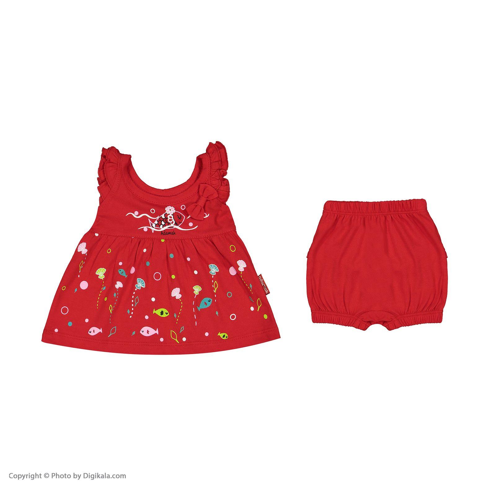ست پیراهن و شورت نوزادی دخترانه مدل 2171111-72 -  - 4