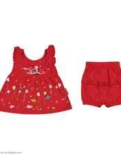 ست پیراهن و شورت نوزادی دخترانه مدل 2171111-72 -  - 2