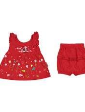 ست پیراهن و شورت نوزادی دخترانه مدل 2171111-72 -  - 1