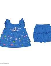 ست پیراهن و شورت نوزادی دخترانه مدل 2171111-58 -  - 2
