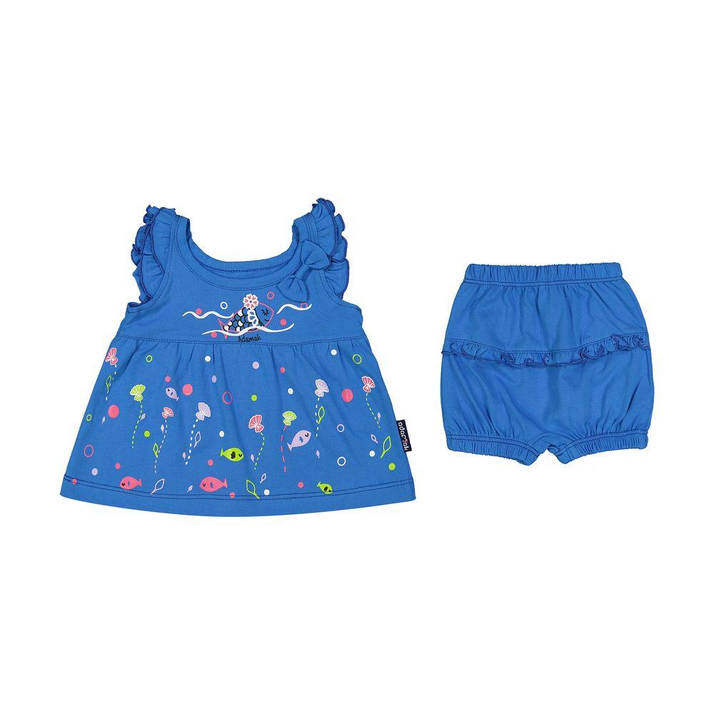 ست پیراهن و شورت نوزادی دخترانه مدل 2171111-58