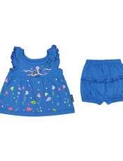ست پیراهن و شورت نوزادی دخترانه مدل 2171111-58 -  - 1