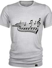 تیشرت مردانه 27 طرح پیانو کد J05 -  - 1