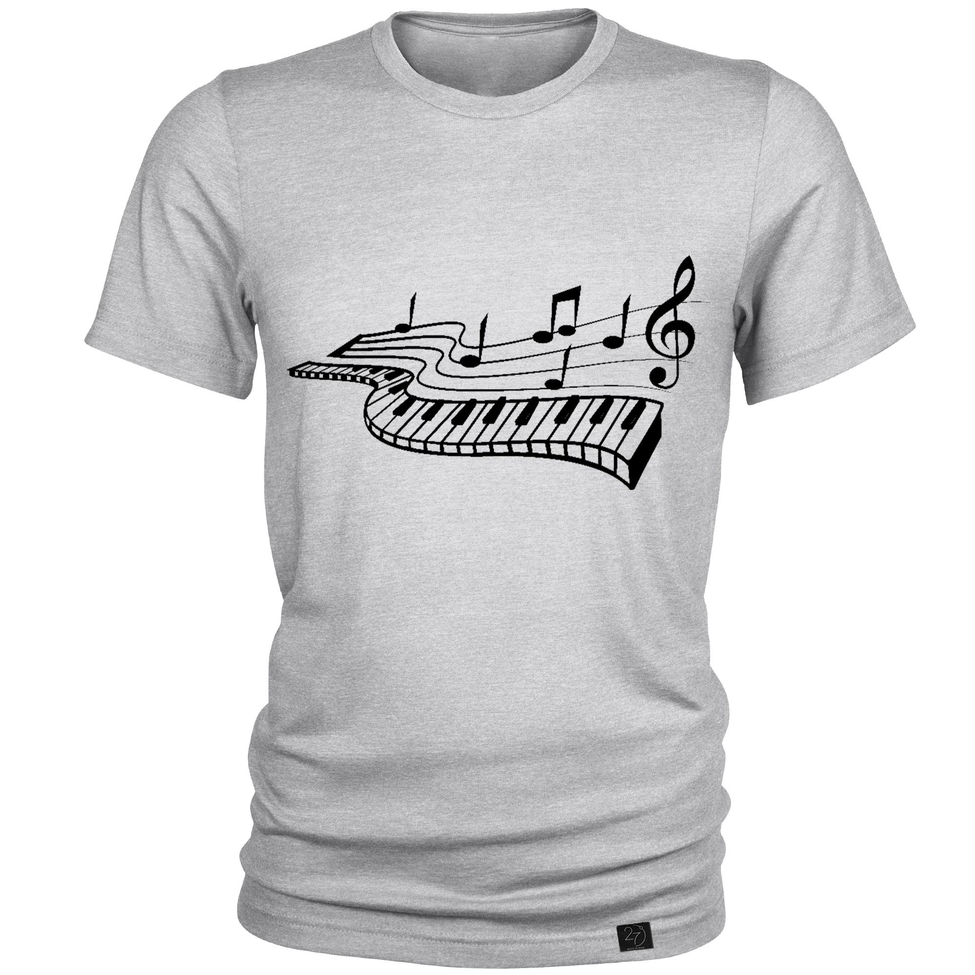 تیشرت مردانه 27 طرح پیانو کد J05 -  - 3