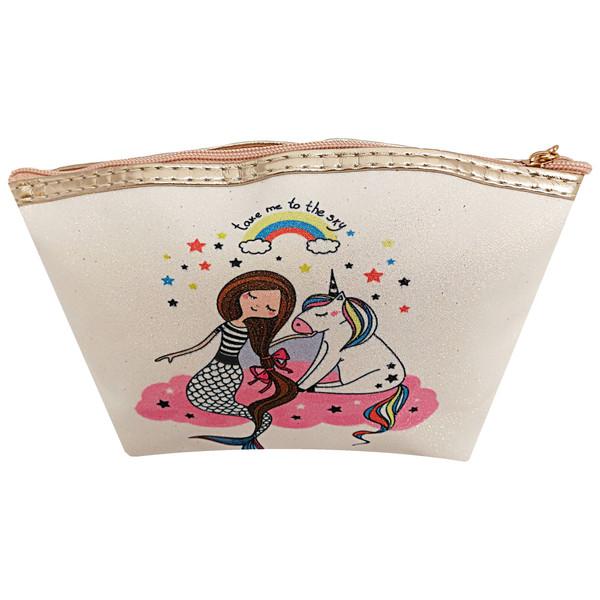 کیف لوازم آرایش دخترانه طرح یونیکورن کد 033