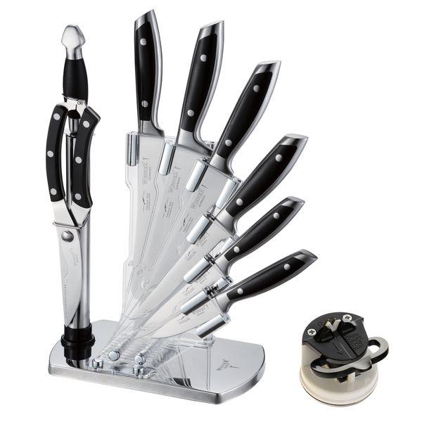 سرویس چاقو آشپزخانه 10 پارچه وینر کد W7335S به همراه چاقو تیزکن