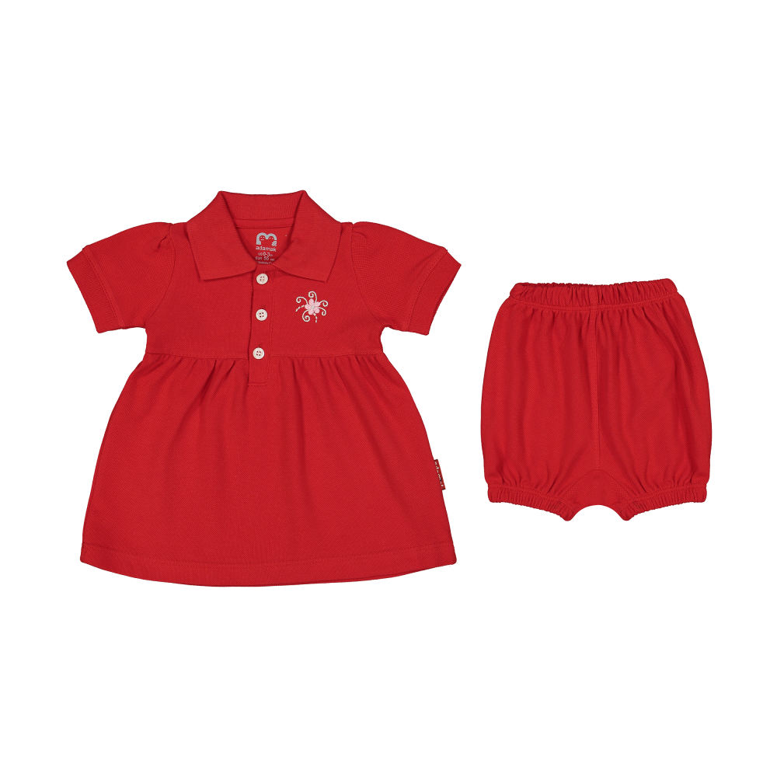 ست پیراهن و شلوارک نوزادی دخترانه آدمک مدل 2171109-72
