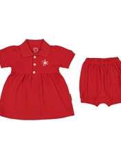 ست پیراهن و شلوارک نوزادی دخترانه آدمک مدل 2171109-72 -  - 1