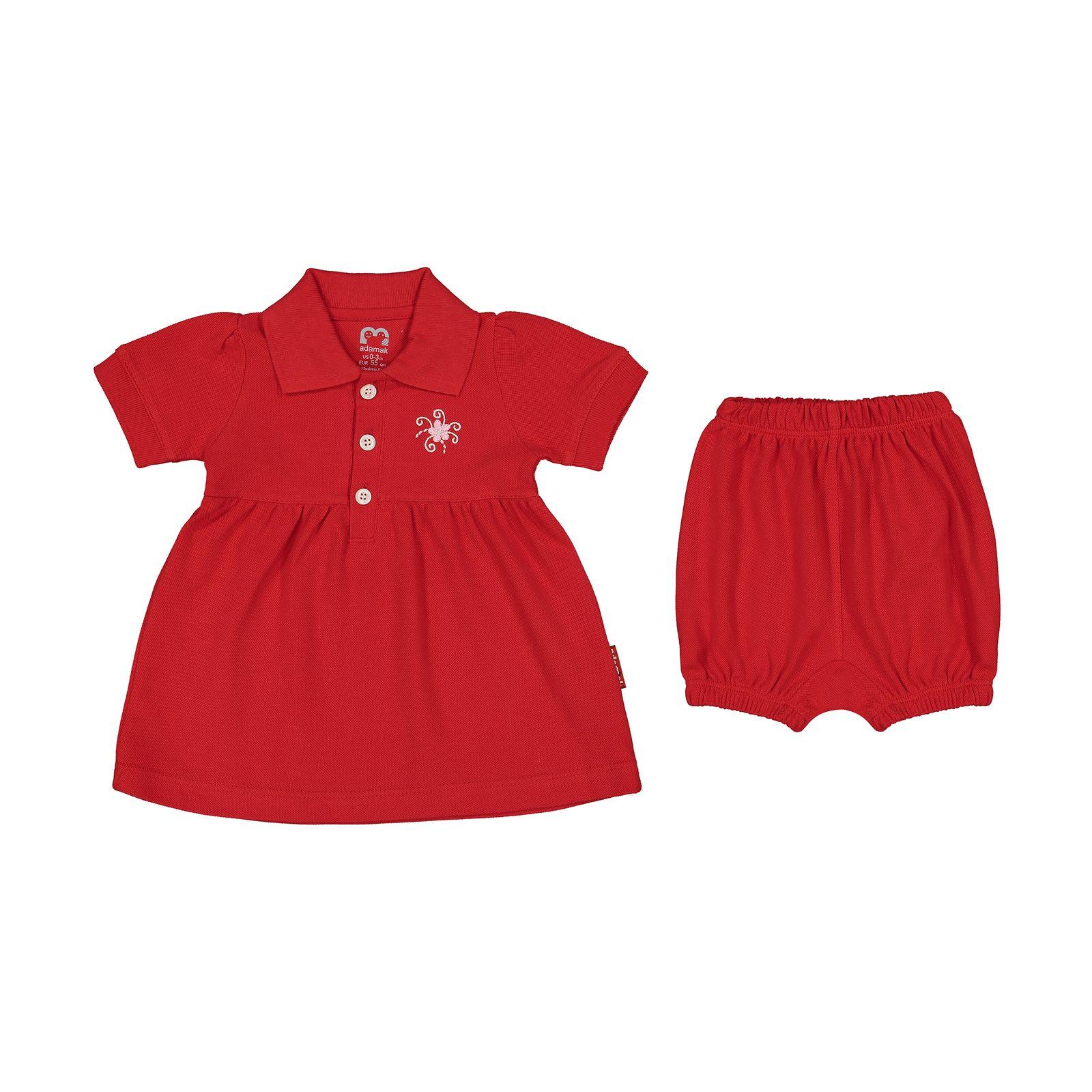 ست پیراهن و شلوارک نوزادی دخترانه آدمک مدل 2171109-72 -  - 2