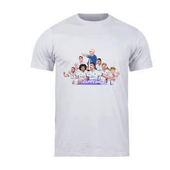 تی شرت آستین کوتاه مردانه طرح رئال مادرید کد 58 T