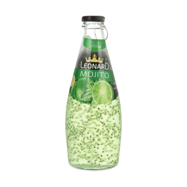نوشیدنی لئونارد با طعم موهیتو و تخم ریحان - 300 میلی لیتر
