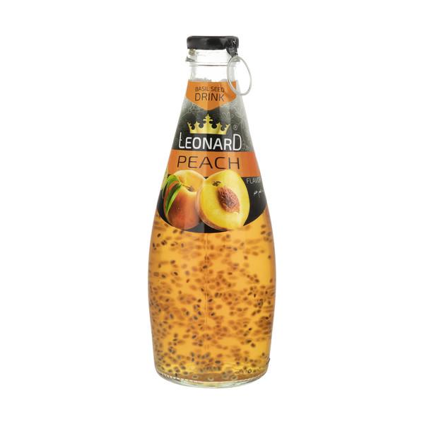 نوشیدنی لئونارد با طعم هلو و تخم ریحان - 300 میلی لیتر
