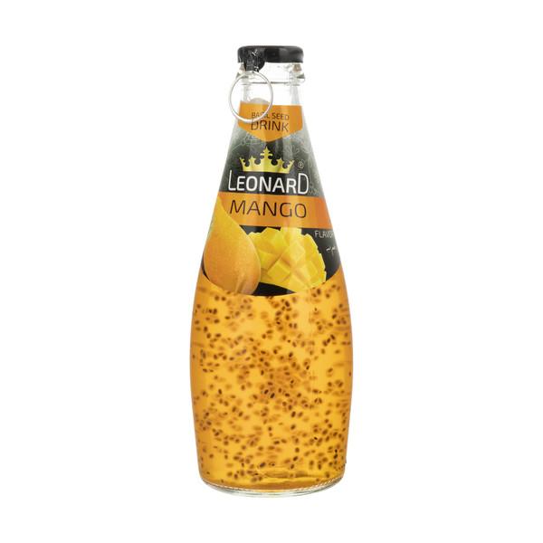 نوشیدنی لئونارد با طعم انبه و تخم ریحان - 300 میلی لیتر