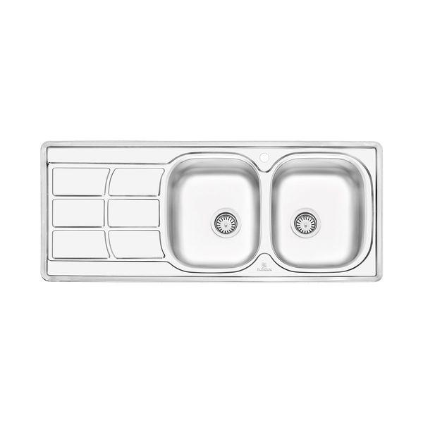 سینک ظرفشویی پرنیان استیل مدل: PS 2209 نیمه فانتزی توکار