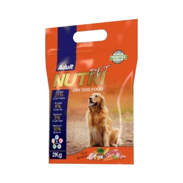 غذای خشک سگ نوتری پت مدل Adult 21Percent Probiotic وزن 2 کیلوگرم