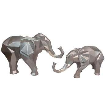 مجسمه طرح فیل کد A34 مجموعه 2عددی