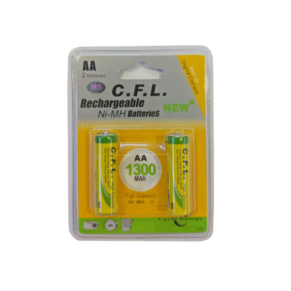 باتری قلمی قابل شارژ سی اف ال مدل CF-02 بسته 2 عددی