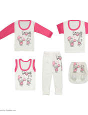 ست 5 تکه لباس نوزادی کد 17 -  - 2