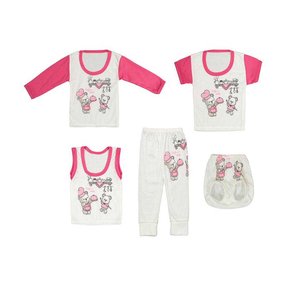 ست 5 تکه لباس نوزادی کد 17