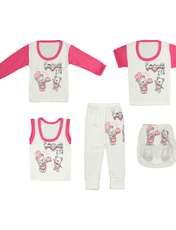 ست 5 تکه لباس نوزادی کد 17 -  - 1