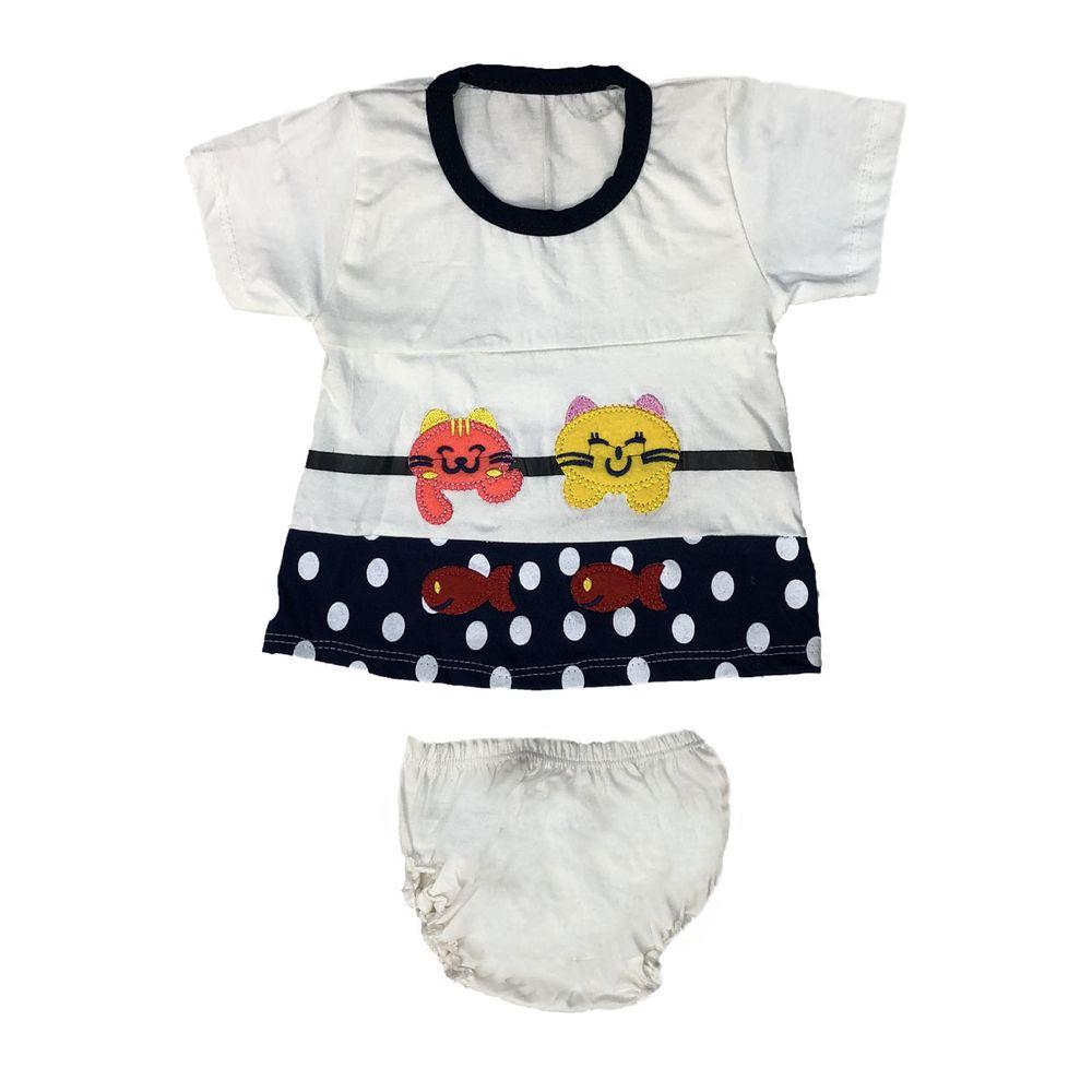 ست تی شرت و شورت نوزادی دخترانه مدل A&S7173