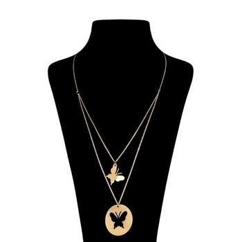 گردنبند نقره زنانه طرح پروانه کد UN0083