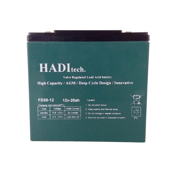 باتری موتور سیکلت هادیتک مدل FD12V20 بسته ۴ عددی
