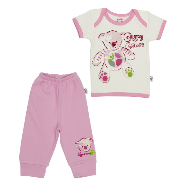 ست تی شرت و شلوار نوزادی آدمک طرح تدی کد 153132