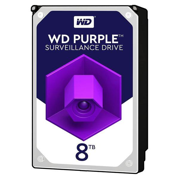 هارددیسک اینترنال وسترن دیجیتال مدل Purple WD82PURZ ظرفیت 8 ترابایت