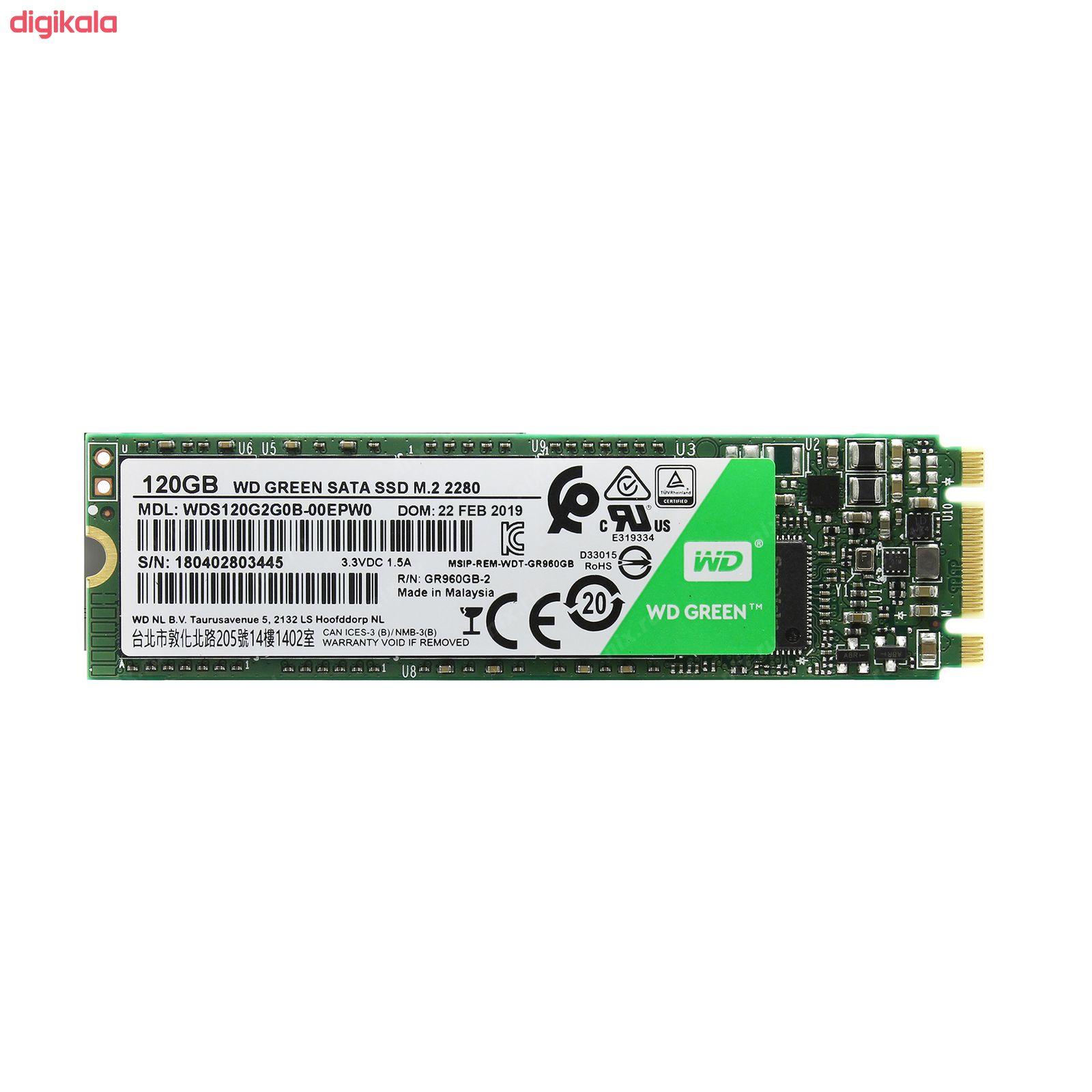 اس اس دی اینترنال وسترن دیجیتال مدل GREEN WDS120G2G0B ظرفیت 120 گیگابایت main 1 2