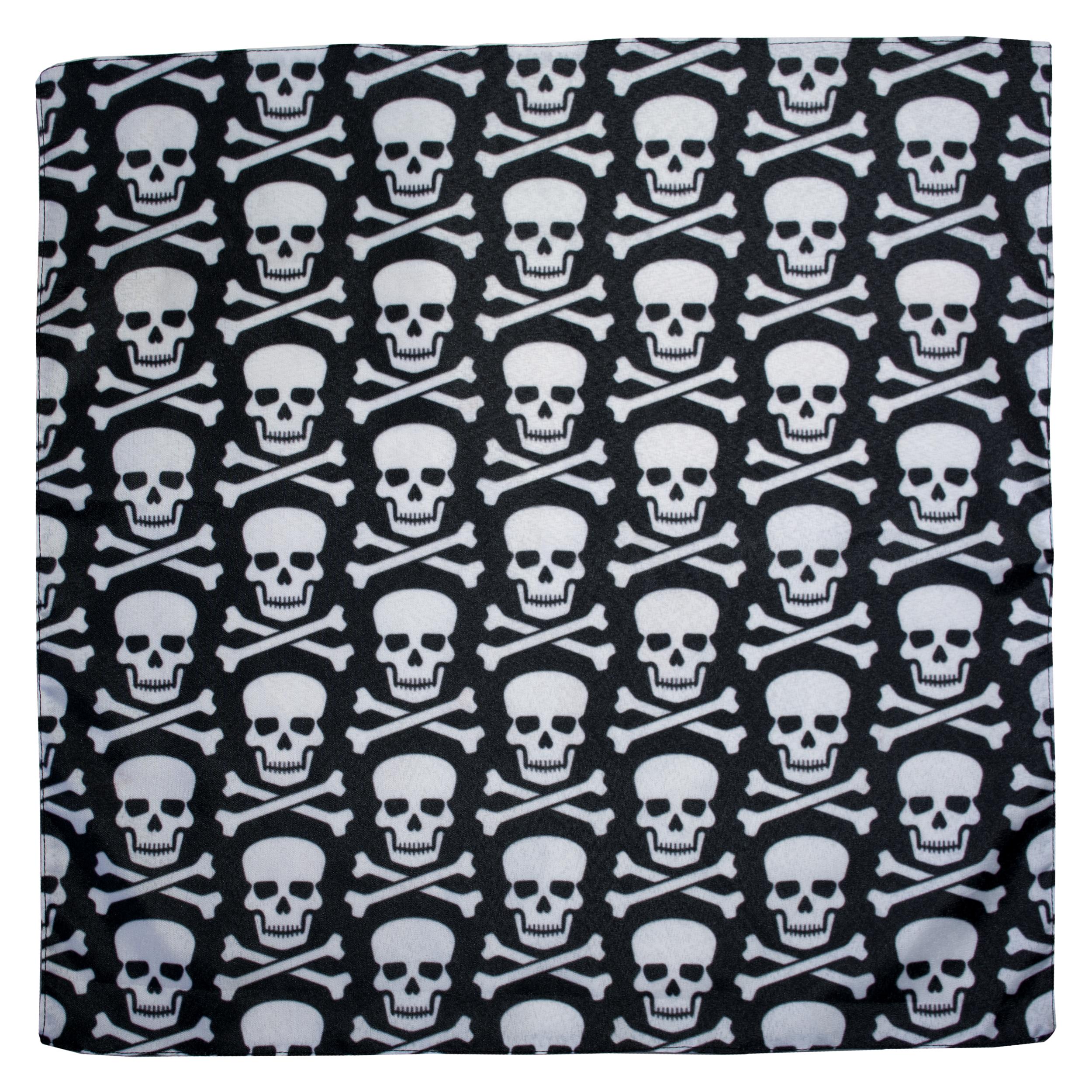 دستمال سر و گردن طرح اسکلت دزد دریایی کد 1110