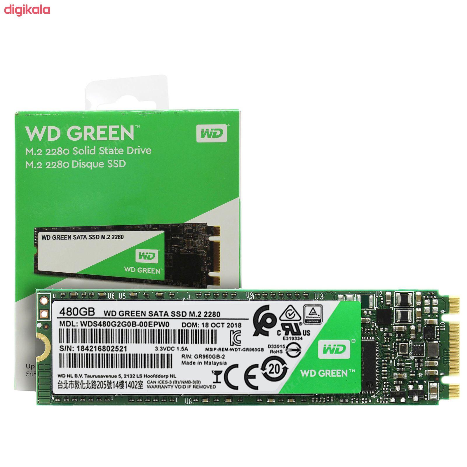 اس اس دی اینترنال وسترن دیجیتال مدل GREEN WDS480G2G0B ظرفیت 480 گیگابایت main 1 2