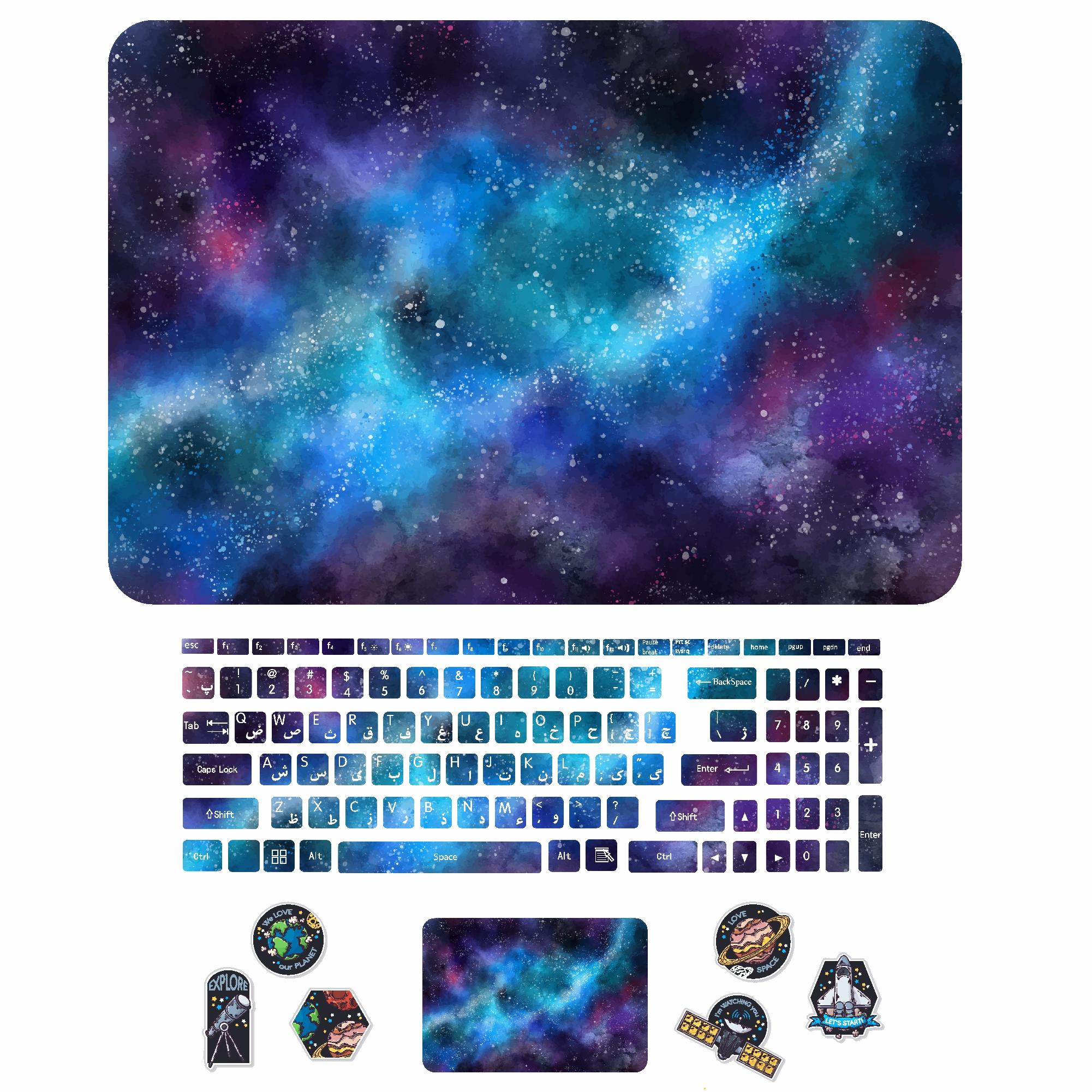 استیکر لپ تاپ کد sp-ace02 به همراه برچسب حروف فارسی کیبورد