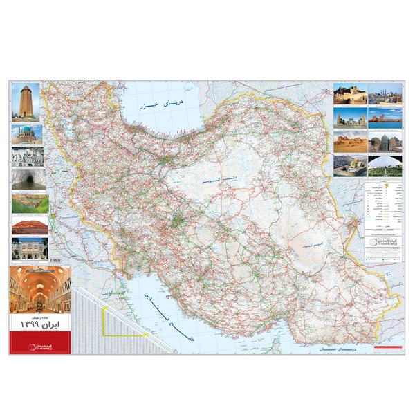 نقشه راههای ایران 1399 گیتاشناسی کد 1454