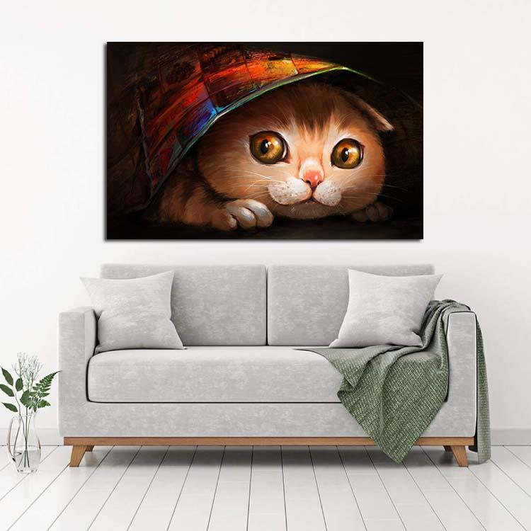 تابلو شاسی طرح گربه مدل 92