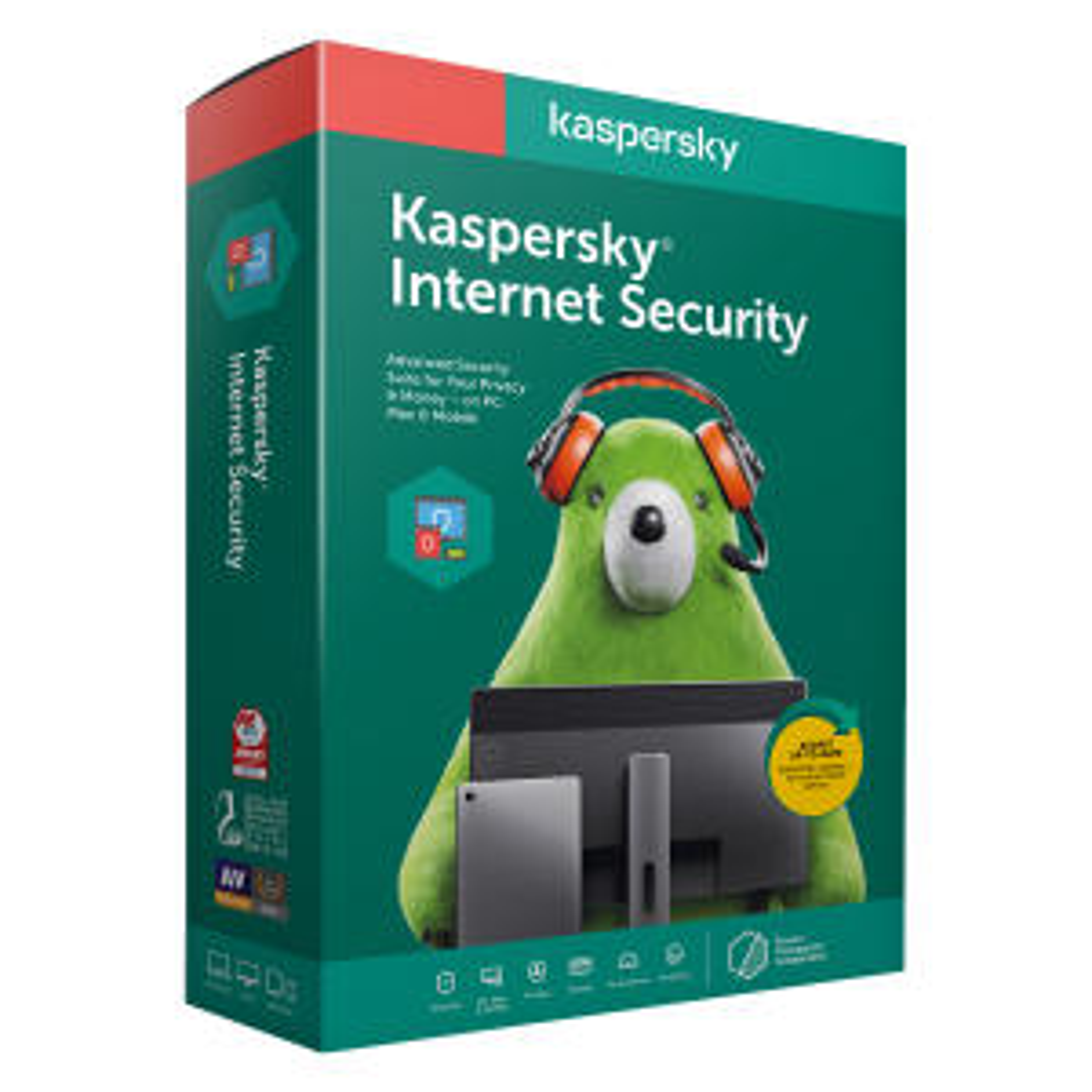 نرم افزار آنتی ویروس کسپرسکی لب نسخه اینترنت سکیوریتی 2020 دو کاربره 1 ساله