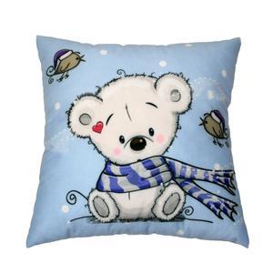 کوسن کودک طرح خرس شال دار کد100