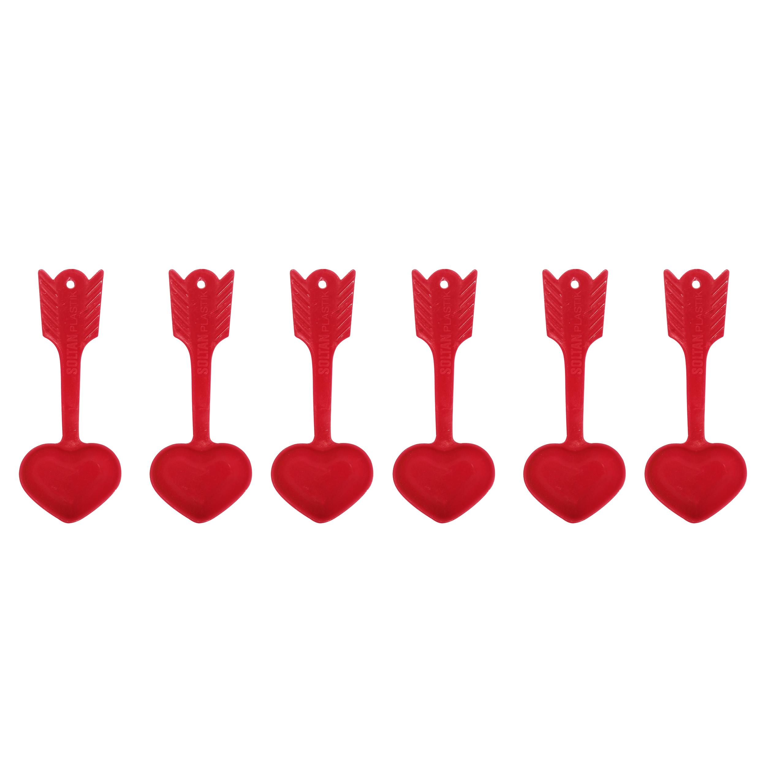پیمانه ادویه مدل قلب کد 4145 بسته 6 عددی