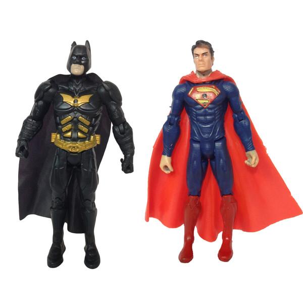 اکشن فیگور طرح بتمن و سوپرمن کد ۰۰۸ بسته ۲ عددی