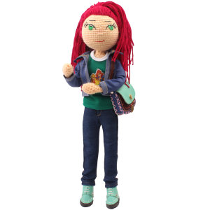 عروسک بافتنی پریا مدل Leili02