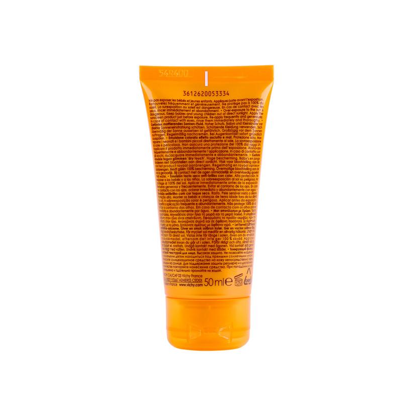 فلوئید ضد آفتاب ویشی سری Ideal Soleil مدل Dry Touch حجم 50 میلی لیتر