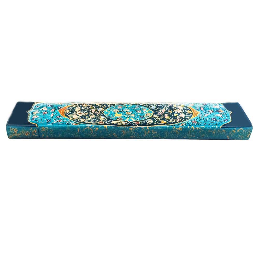 خرید                       جعبه هدیه چوبی طرح تذهيب کد PB 110