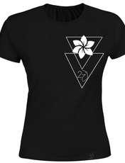 تی شرت زنانه 27 طرح  انتزاعی27 کد H02 رنگ مشکی -  - 2
