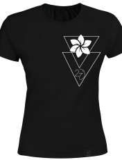 تی شرت زنانه 27 طرح  انتزاعی27 کد H02 رنگ مشکی -  - 1
