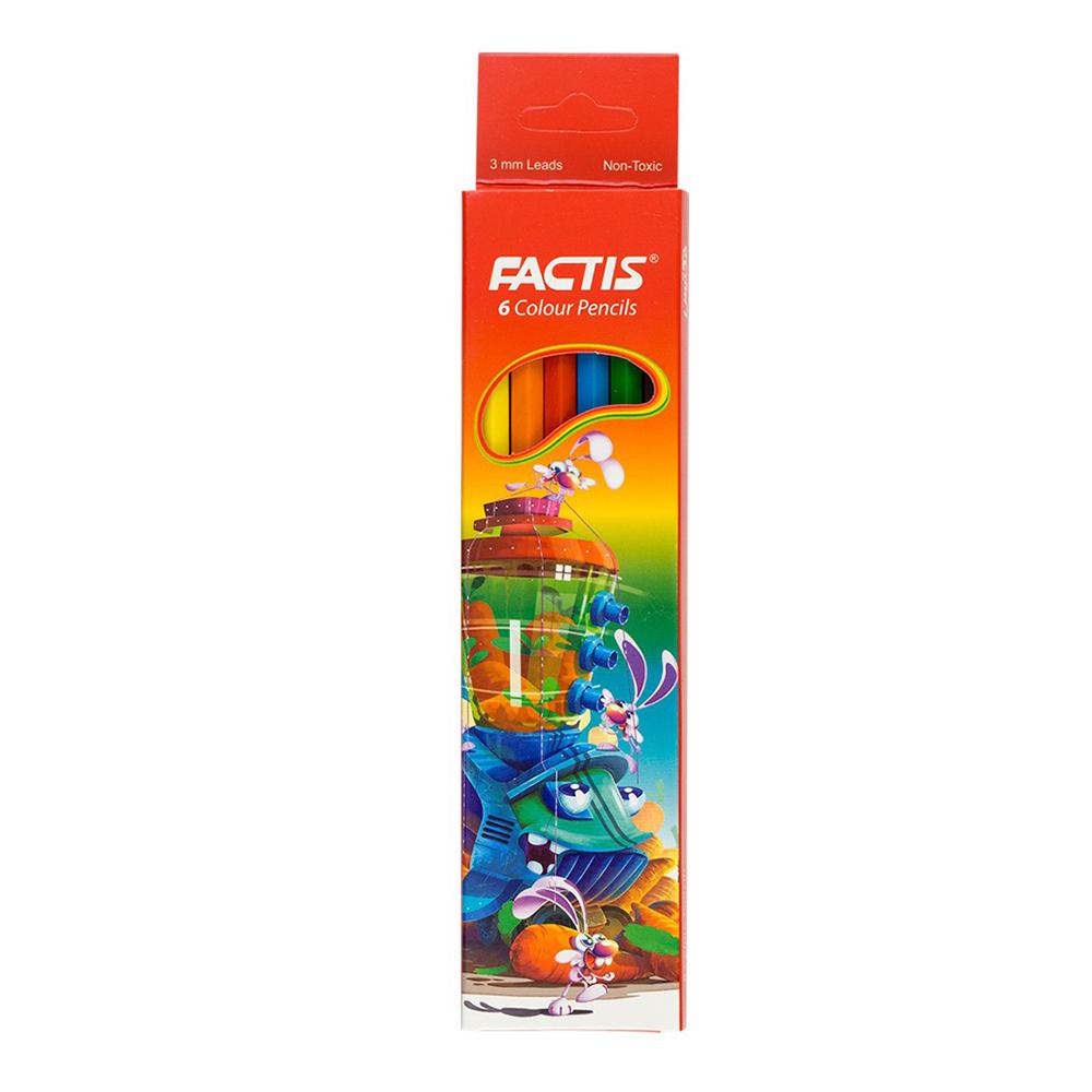 مداد رنگی 6 رنگ فکتیس کد 126748