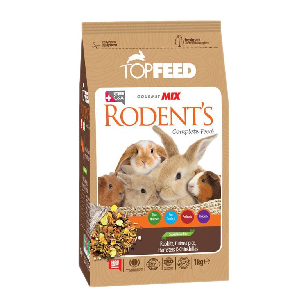 غذای خشک جوندگان تاپ فید مدل Rodent copmlete feed وزن 1 کیلوگرم