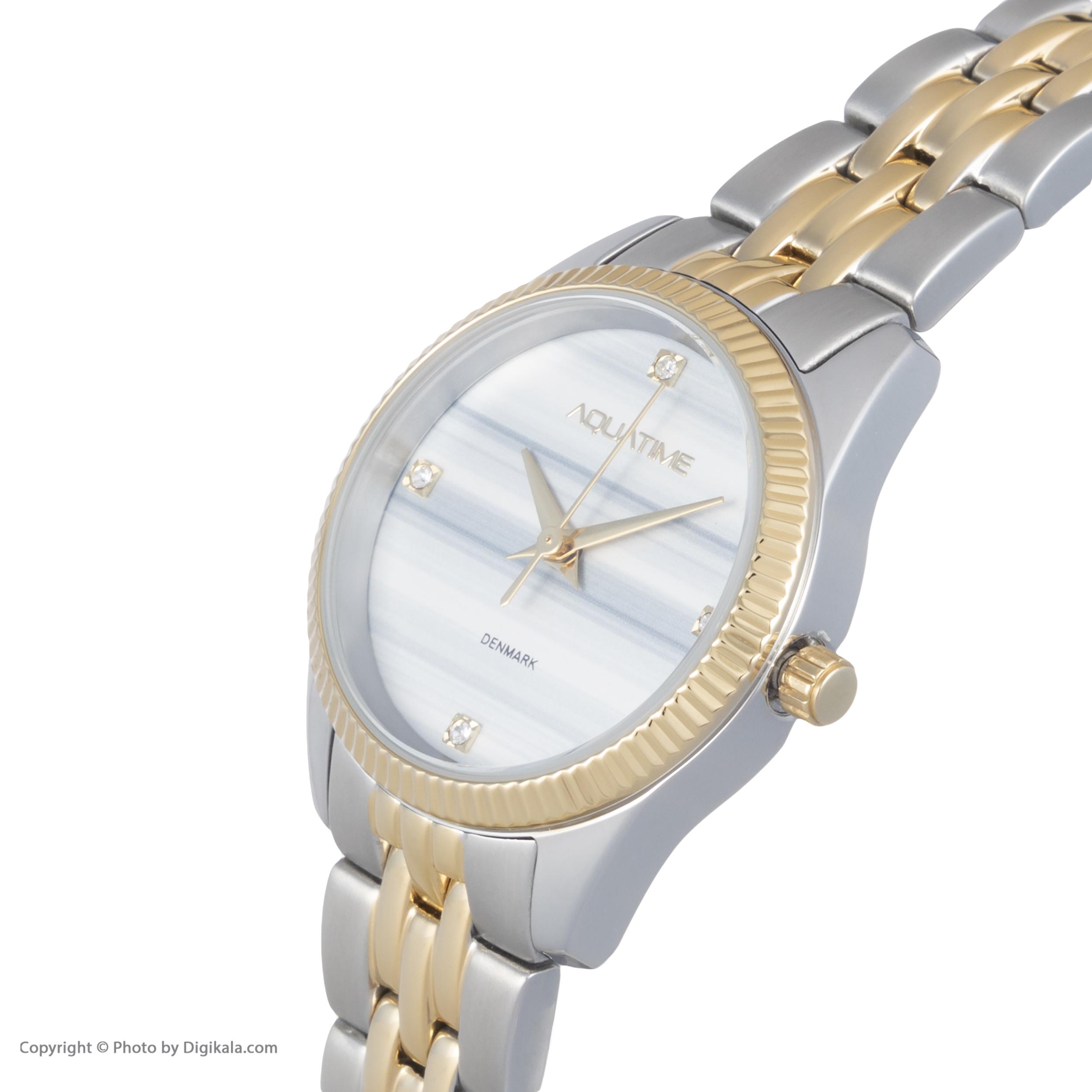 ساعت مچی عقربه ای زنانه آکوآ تایم مدل 30212-04              ارزان